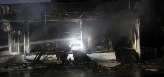 Brand eines Geschäftshauses