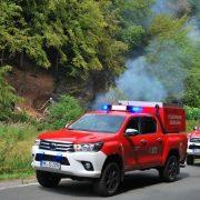 Kradunfall, Waldbrand, aufgerissener Dieseltank und weitere Einsätze der Feuerwehr