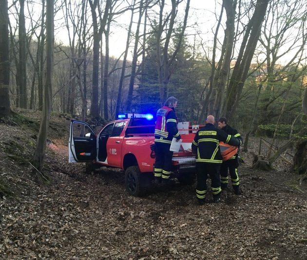 Medizinischer Notfall im Wald