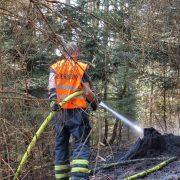Waldboden brannte in der Grürmannsheide