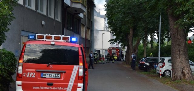 Garagenbrand in Letmathe