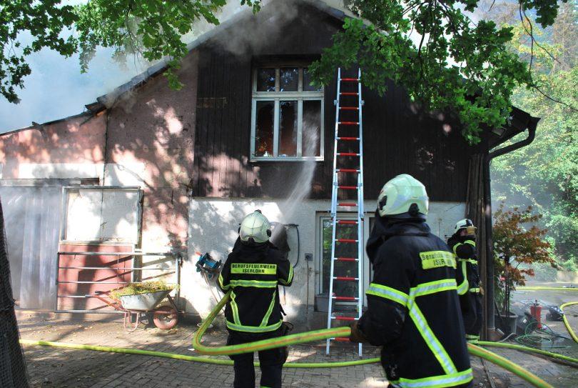 Scheunenbrand - © Feuerwehr Iserlohn Pressestelle