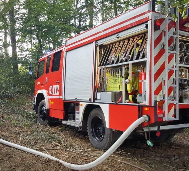 Brand im Waldstück an der Leckingser Straße
