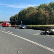 Verkehsunfall mit Krad auf der Autobahn BAB 46