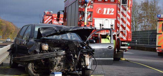 Verkehrsunfall auf der Autobahn